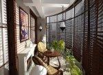 Дизайн балконов, лоджий и внутренних двориков
