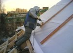Ремонт фронтонных стен крыши